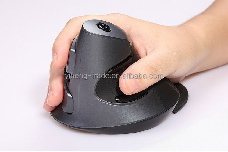 Health Care Delux wireless vertical mouse cordless mouse 2.4G laser upright mices health mouse