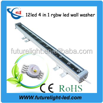 made in China outdoor ip65 12led 4 in 1 48w rgbw led wall washer