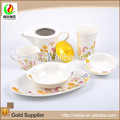 Good price made in china flower decal eco-friendly ceramic fine japanese porcelain tea set