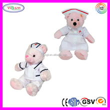 D953 Cute 30cm Nurse Suit Bear Animal Stuffed Toy Plush Nurse Bear