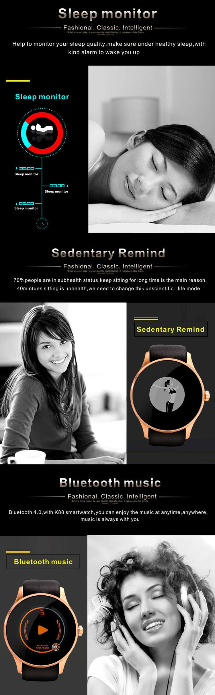 K88S ladies mobile phone watch, built-in sim card ladies mobile watch phones, the smallest watch mobile phone