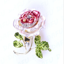 Decorative Garment Dress Accessories Wedding Bridal Luxury Rhinestone Flower Rose Brooch Pin Exquisite fashion zircon brooch