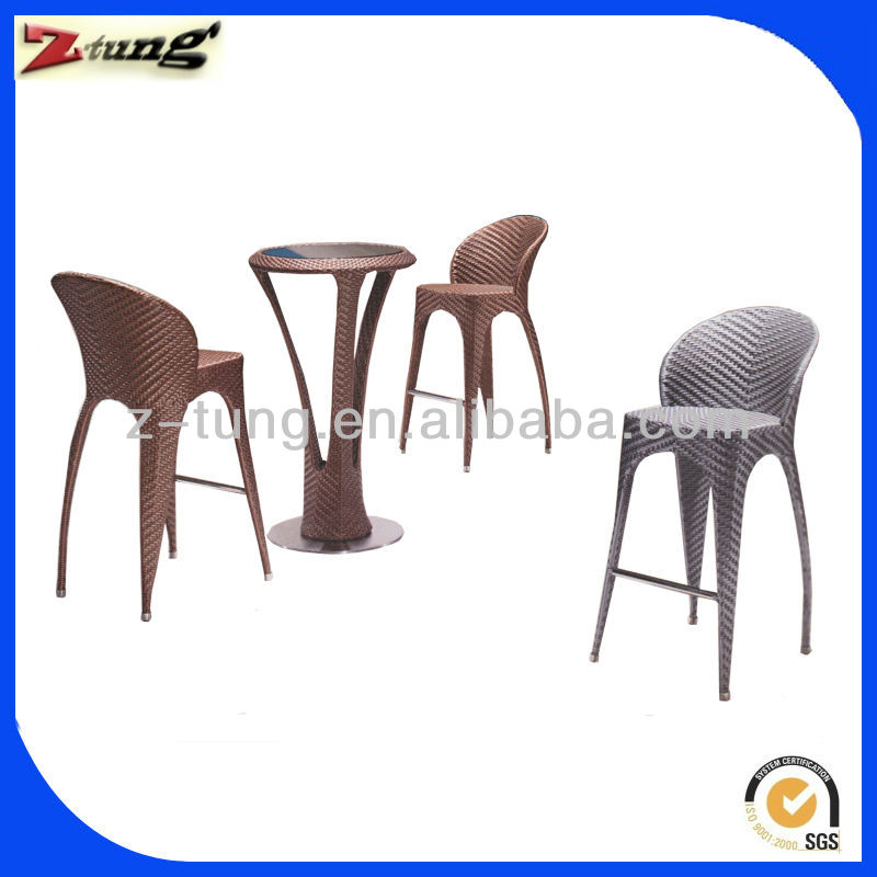 ZT-2003CT rattan/wicker garden cane bar set furniture