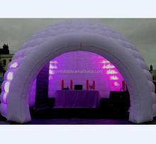 Capacity 10 man large inflatable LED party tent,inflatable trade show dome tent