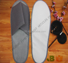 Open Toe Gray Brushed Fabric Disposable SPA Slipper