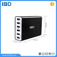 IBD hot selling most popular 60W 10A 6 ports universal high speed quick charge 3.0 desktop USB charger for mobile phone