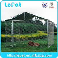 hot sale large outdoor chain link rolling galvanised dog enclosure dog run
