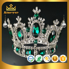 Beautiful baroque round pageant crowns for miss world contest