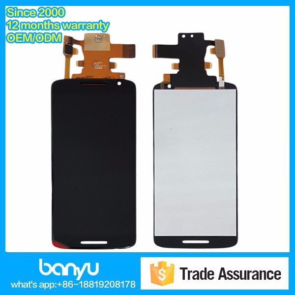 China factory supply brand new digitizer lcd touch for moto x play display