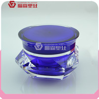 diamond shaped plastic container acrylic sale cosmetic with lids