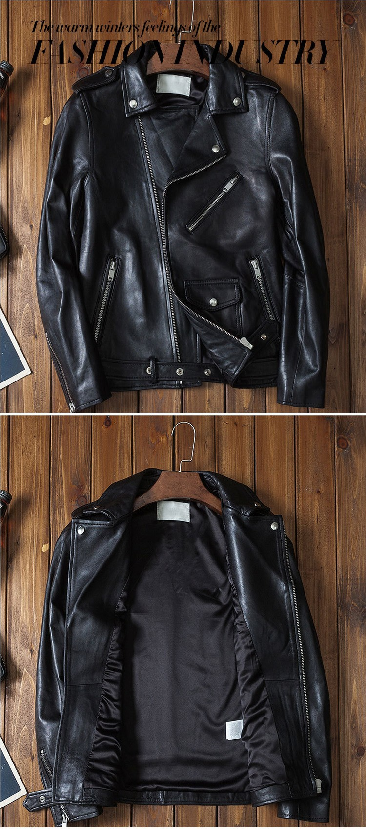 YEEL Spring Series zip windproof casual repsol cheap faux buell men leather motorcycle jacket