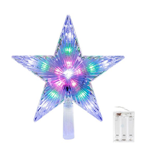 Multi-colour Changing Star Treetop Christmas Decoration Light 3AA Battery Operated Star Light