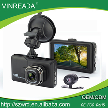 1080P Full HD Dual Car Camera Data Video Recorder Dashboard Black Box