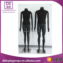 Black color male fabric cover upper body,wooden hand full body mannequin