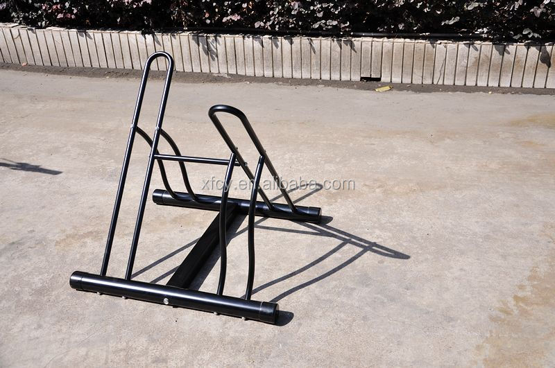 2014 home-used two-bike Floor indoor bicycle rack(ISO TUV SGS approved)