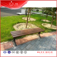 Wooden outdoor garden bench / park rest chairs long size / classic outdoor furniture hotel chairs