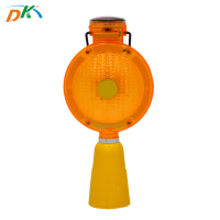 Solar Power Waterproof PC LED Traffic road block amber light,strobe light