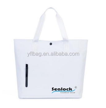 2017 sealock new style waterproof tote beach bag with outside pockets