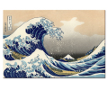 Wholesale Japanese Yamato-e Painting Canvas Prints Wave of Kanagawa Decorative Canvas Printed Artwork