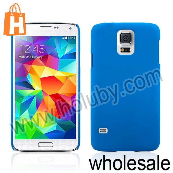 Solid Color Ultra-slim Rubber Coated PC Hard Case for Samsung Galaxy S5 I9600