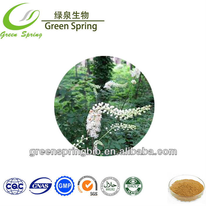 China supplier black cohosh extract Triterpenoid saponis 2.5%, 5%, 8%, free samples