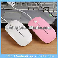 hot selling 4d cheap thin wired optical flat mouse