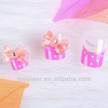 2013 New Design Bowknot French Finger Artificial Nail