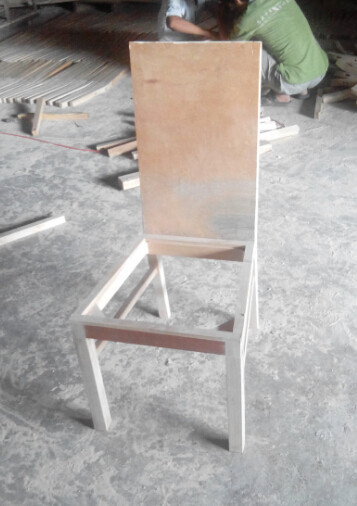 Solid wood restaurant dining chair