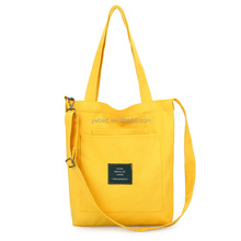 Canvas yellow Beach Bag Tote bags women handbags from china supplier