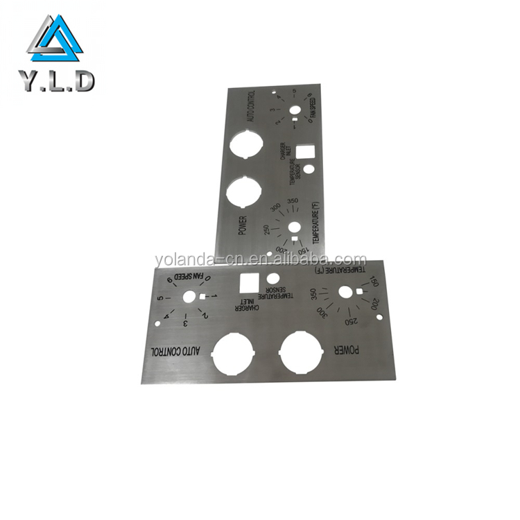 OEM ODM Custom Black Silk Screened Stainless Steel Plates Stamping Fabrication