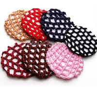 Plain Hair Bun Holder Net Cover,Crochet Snood Net Hair Accessories, Nylon Mesh Bun Cover Snood Hair net
