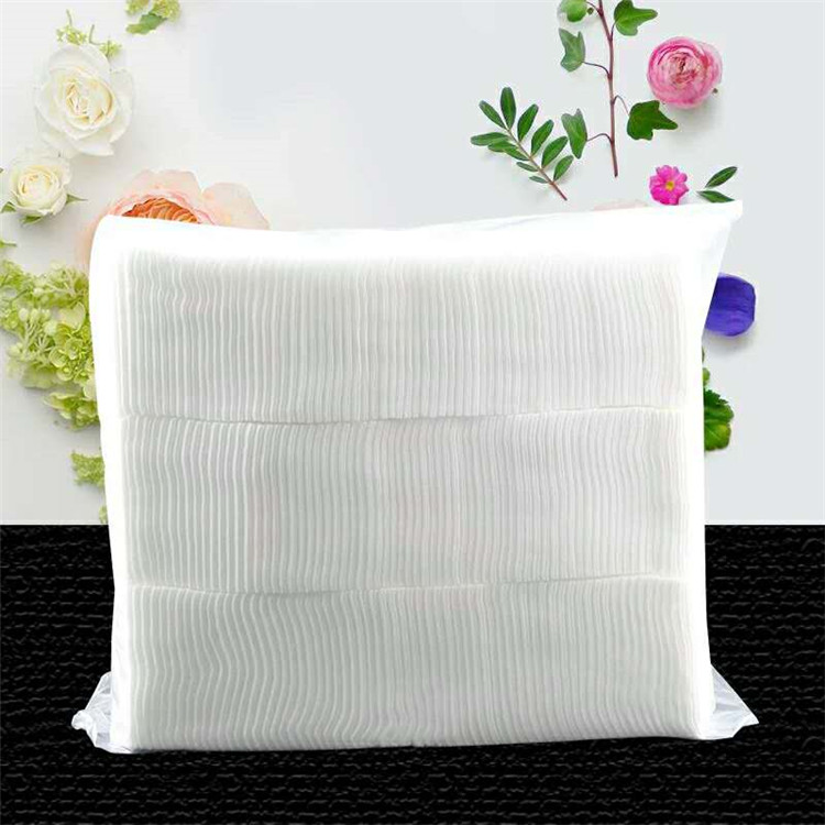 Wholesale Japanese Bulk Organic Cotton Pad Custom Cosmetic Cleaning No Pigmented Cotton Pad