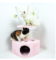 2016 Simple cat tree with a ball/cat scratch post/cat toy