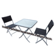 3 PCS Outdoor Garden Patio Furniture Rattan Wicker Chair & Table Bistro Sets