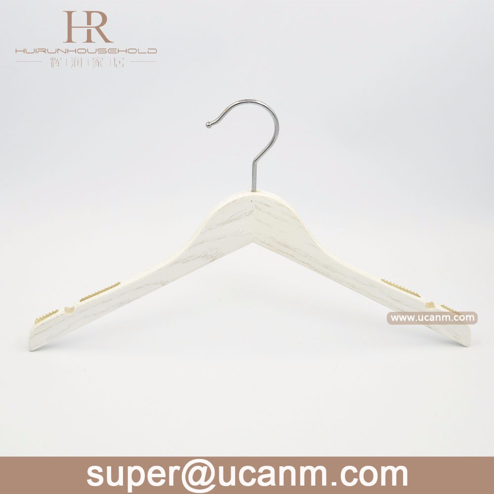 Garment Display White Wooden Jackets Hanger for Clothes