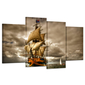 HD Sailboat Canvas Sea View Wall Decor Boat Picture Poster for Living Room Bedroom Decoration/Al09267