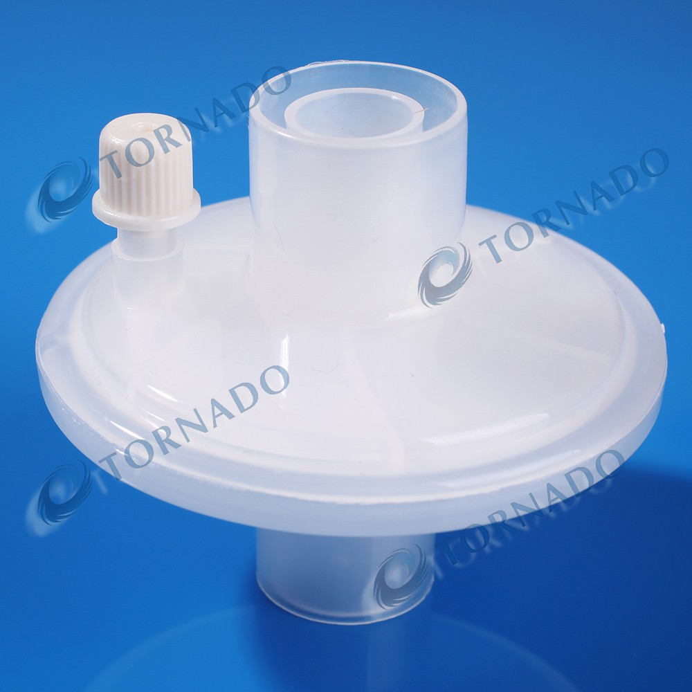 Medical disposable pulmonary function, spirometry filter,