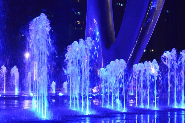led light home garden wedding decoration water fountain