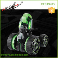 5 Wheeled Remote Control 2-sided Extreme High Fastest Mini Speed Tumbling Action Stunt Race Car with Lights-Green