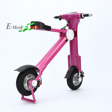 Pink color 48V 500W 12 inch brushless motor blue tooth folding electric scooter