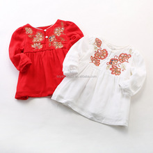 high quality embroidery 2017 birthday dress for baby boy girls