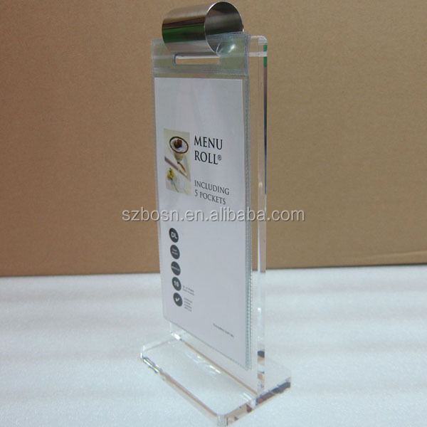 Hot Sell Table Top Acrylic Menu Holder Stand Display