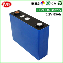 LiFePO4 battery 3.2V 85AH rechargeable lithium ion battery for solar power supply and storage