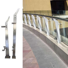 Europe favorite new model 304 stainless steel handrail balustrade,railing banister,tempered glass fence panels