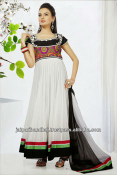 Exclusive beautiful embroidered dress material designer salwar suits online