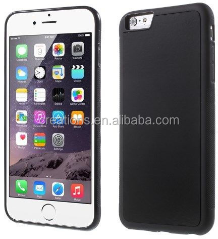 2016 popular High Quality No Gravity Case for iphone 6/6S Anti gravity case black and transparent TPU stick to 6 surface
