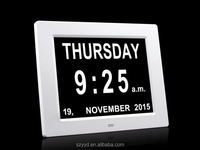 2016 directly supply day clock digital calendar for memory loss with Non-Abbreviated Day & Month