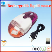 VMW-46 2.4g usb wireless liquid rechargeable mouse with customised floater