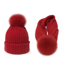 High quality fur PomPom outdoor warm two ways usage knitted acrylic beanie slough hats <strong>cap</strong>