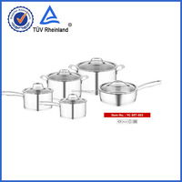 18 10 stainless steel korea ceramic cookware and aluminium inside and stainless iron outside pot